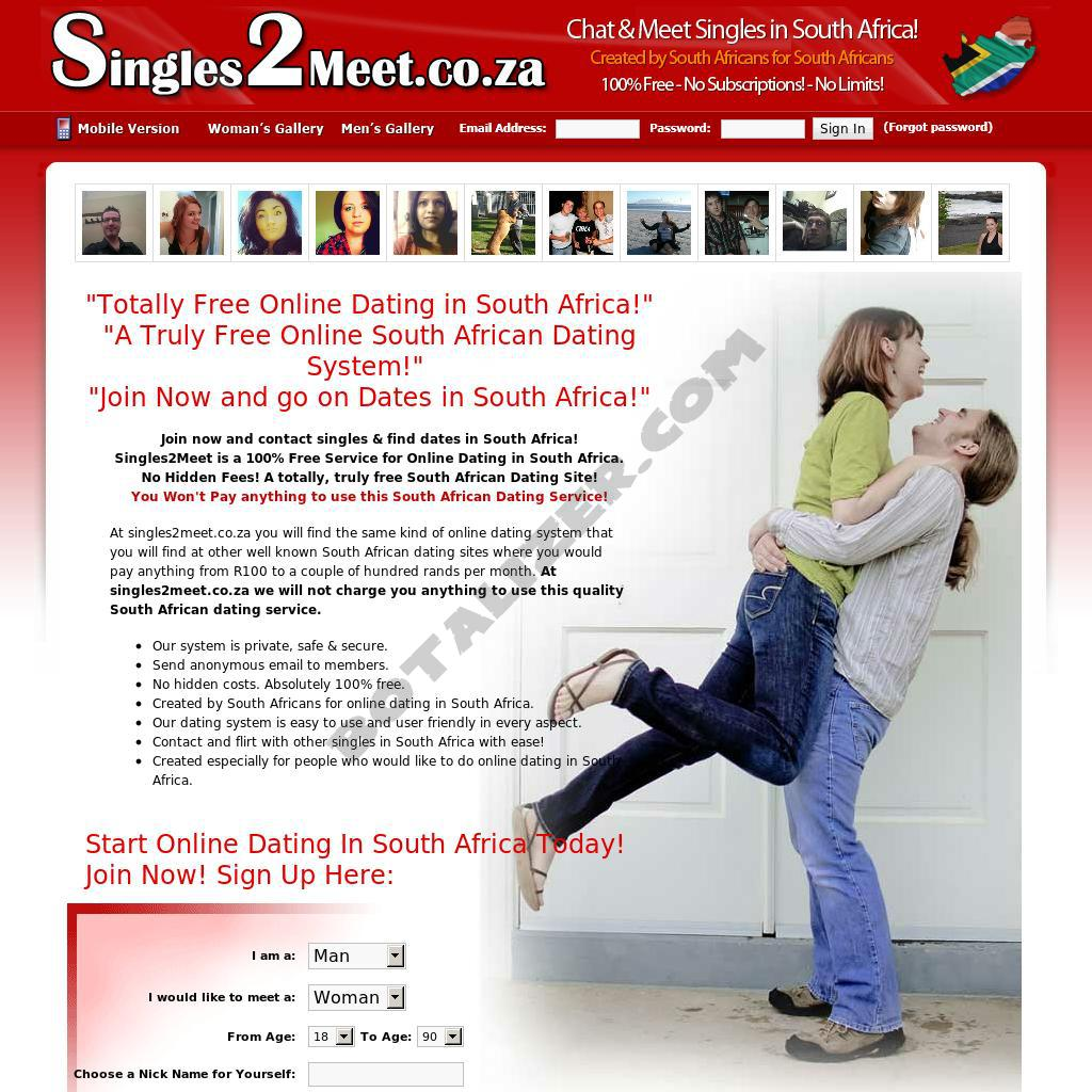 Any free dating site in south africa